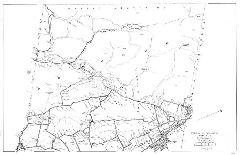 black and white map of ho