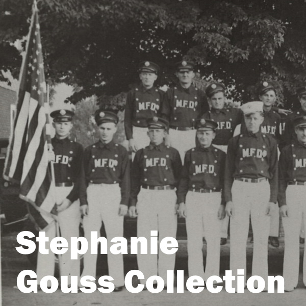 Stephanie Gouss Collection: White words over a photo of Mahwah Fire Company 2
