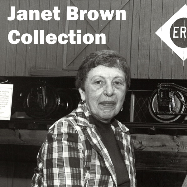 Janet Brown Collection: White words over a black and white photo of Janet Brown