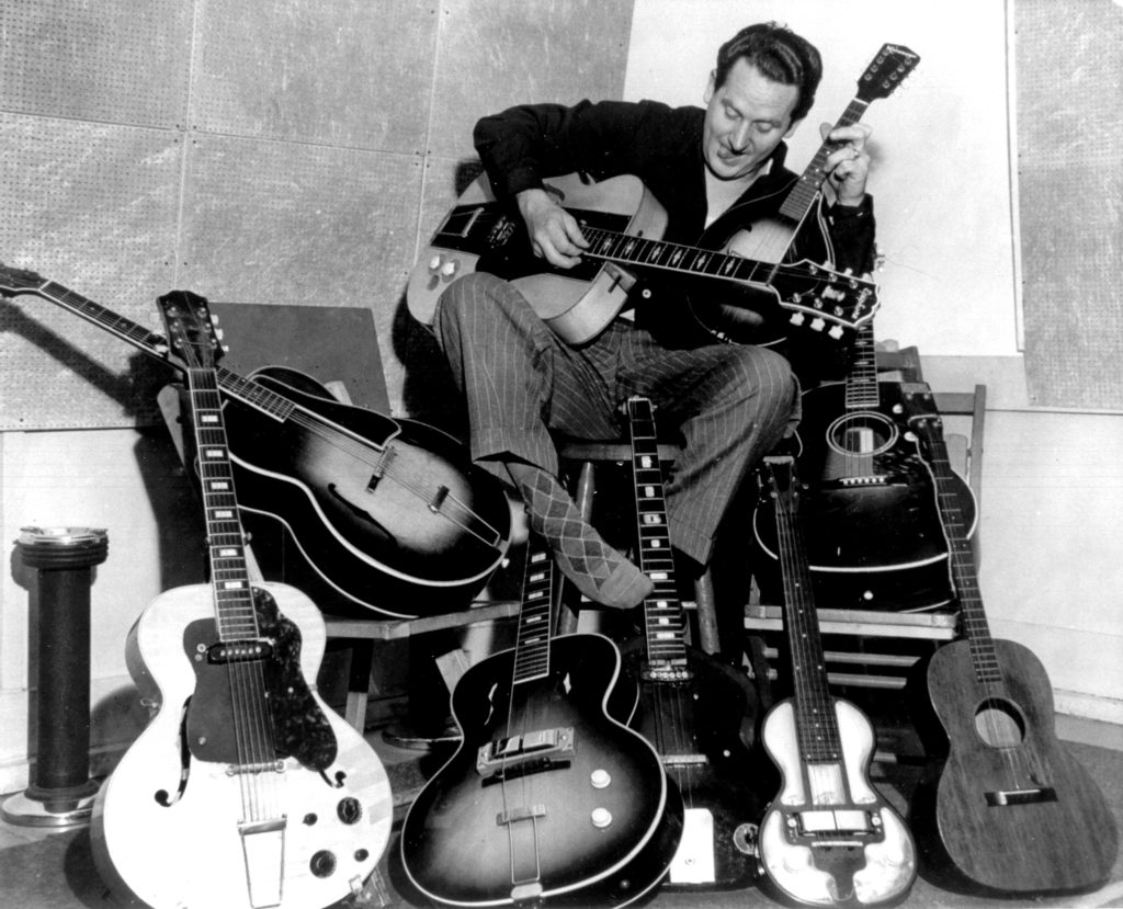 Les Paul with guitars