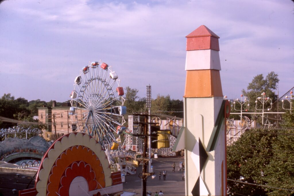 Palisades Amusement Park Ferris Wheel and tower