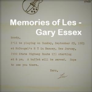 memories of Les Gary Essex