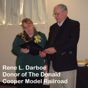 Rene Darboe, donor of The Donald Cooper Model Railroadt